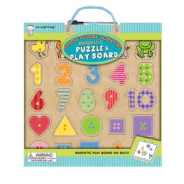 Shapes Colors Counting Magnetic Puzzle & Play Board